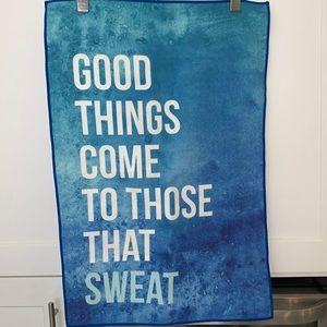 NWOT Cute Microfibre Yoga/Workout Towel